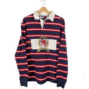 Tommy Hilfiger Crest Logo Striped Rugby Shirt